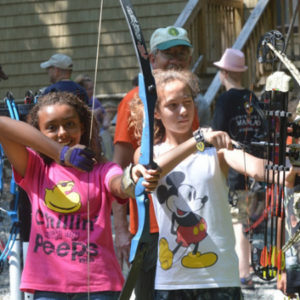 Having fun at Summer Archery