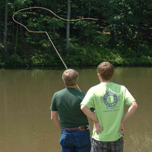 Casting a fly line